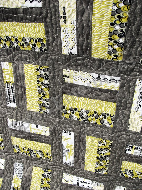 Grey and Yellow Brick Road - 2015 Quilting