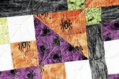 Spiders and Spooks 2015 quilting plus a thread