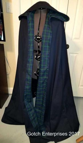 Blue and Tartan Cloak